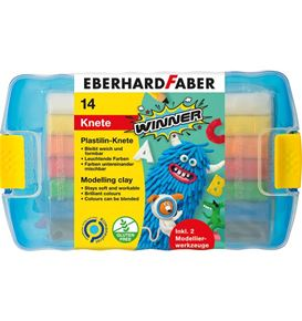 Eberhard-Faber - Modelling clay Winner plastic box of 14