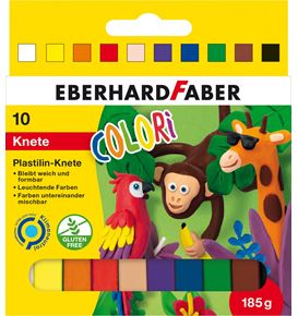 Eberhard-Faber - Colori modelling clay cardboard box of 10