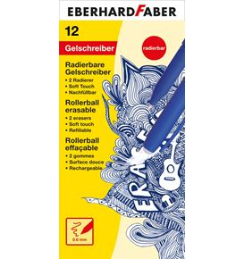 Eberhard-Faber - Erase it! Gel roller erasable, blue