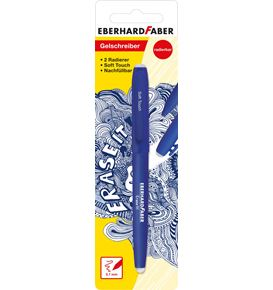 Eberhard-Faber - Erase it! Gel roller erasable, blue blister