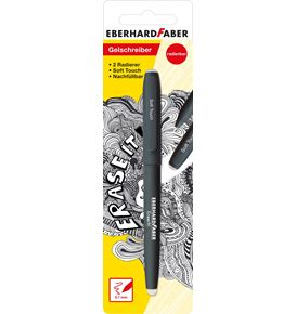 Eberhard-Faber - Erase it! Gel roller erasable, black blister