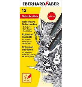 Eberhard-Faber - Erase it! Gel roller erasable, black