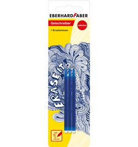 Eberhard-Faber - Erase it! Refill gel roller erasable blue, set of 3