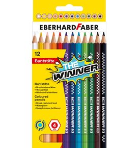 Eberhard-Faber - THE Winner coloured pencil box of 12