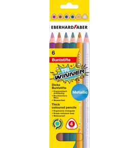 Eberhard-Faber - TRI Winner coloured pencil metallic cardboard box of 6