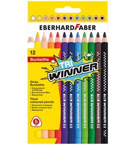 Eberhard-Faber - Coloured pencil TRI Winner box of 12