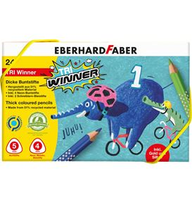 Eberhard-Faber - Coloured pencil TRI Winner plastic box of 24