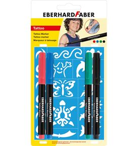 "Eberhard-Faber - Tattoo Marker ""kids"" set of 4 blister"