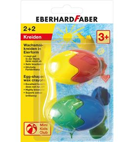 Eberhard-Faber - Egg shaped wax crayons 2x blister