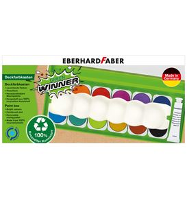 Eberhard-Faber - Green Winner paint box, 12 colours
